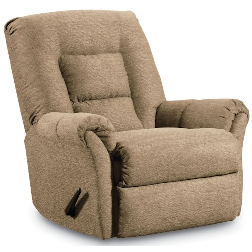 Lane Rocker Recliners Dooley Rocker Recliner with Pub Back and Padded Arms