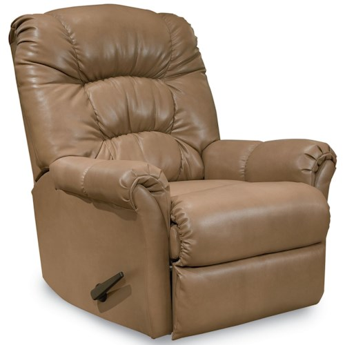 Lane Rocker Recliners Mullen Casual Padded Back Rocker Recliner