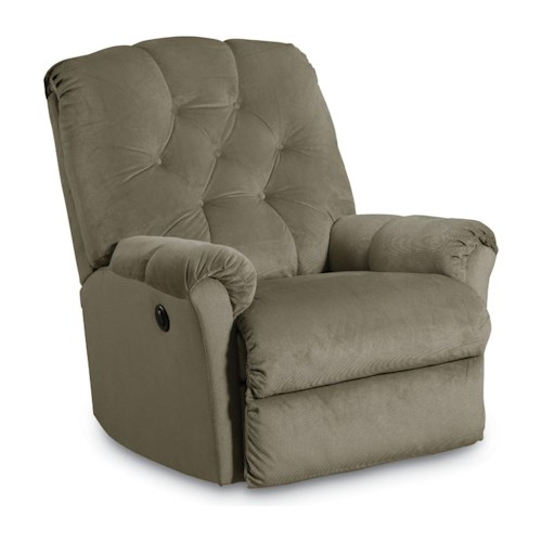 Lane Rocker Recliners Miles Pad Over Chaise Tufted Back Rocker Recliner