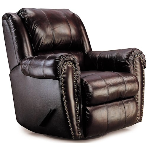 Lane Summerlin Traditional Rocker Recliner with Nail Head Trim Accents