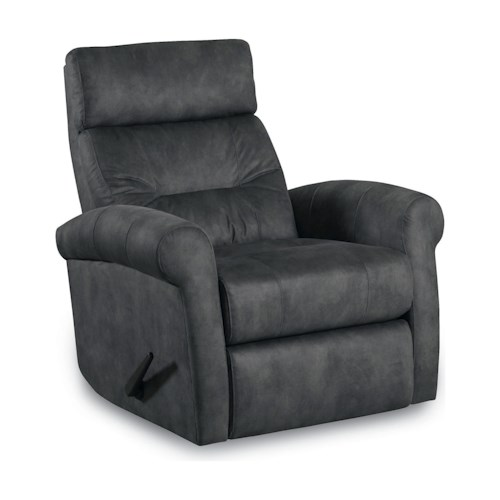 Lane Tango Transitional Rocker Recliner with Rolled Arms