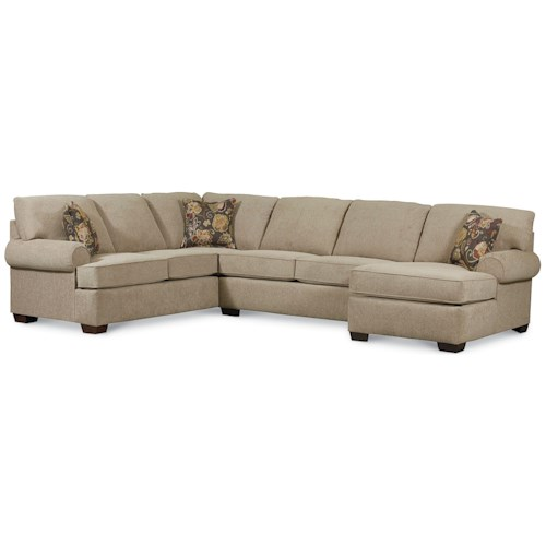 Lane Vivian Transitional 3 Piece Sectional Sofa