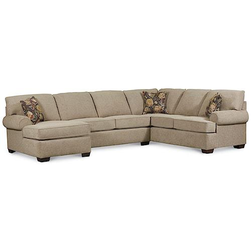 Lane Vivian Transitional 3 Piece Sectional Sofa