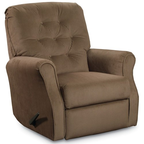 Lane Wallsaver Recliners Priscilla Power Recliner with Button Tufted Back