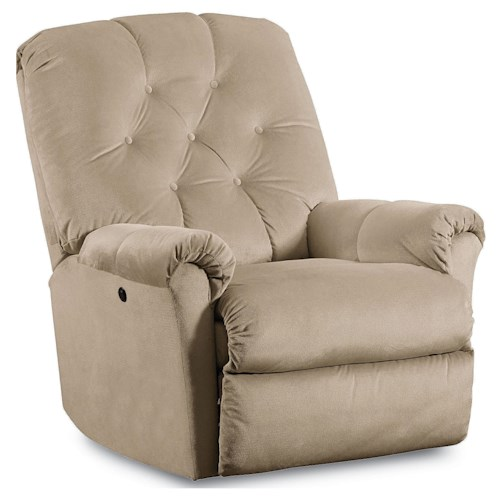 Lane Express Miles Transitional Rocker Recliner with Tufted Back