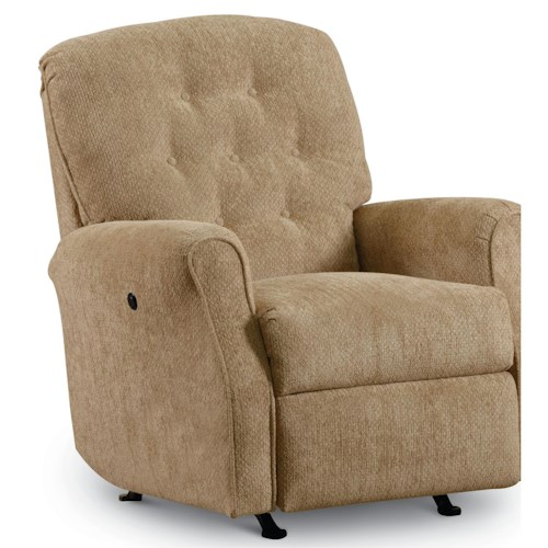 Lane Express Priscilla Transitional Rocker Recliner with Tufted Back