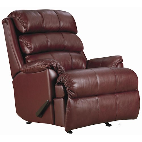 Lane Express Revive Quick Ship Power Rocker Recliner with Plush Pillow Arms