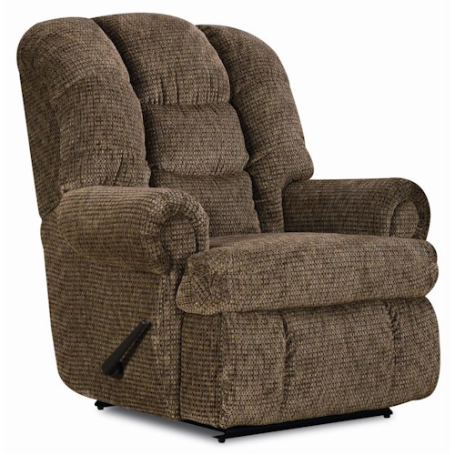 Lane Express Stallion Quick Ship Wallsaver Recliner with Rolled Arms