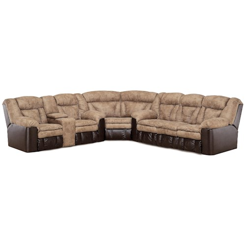 Lane Express Talon Quick Ship Sectional with Hidden Release