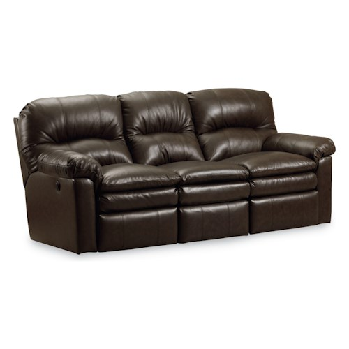 Lane Touchdown  Quick Ship Double Reclining Sofa with Pillow Top Arms
