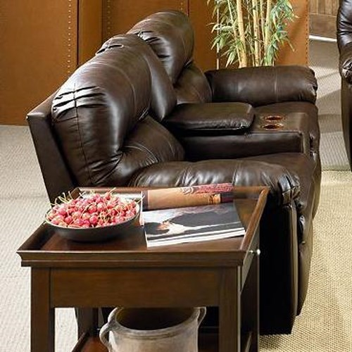 Lane Touchdown  Quick Ship Double Reclining Sofa with Center Console