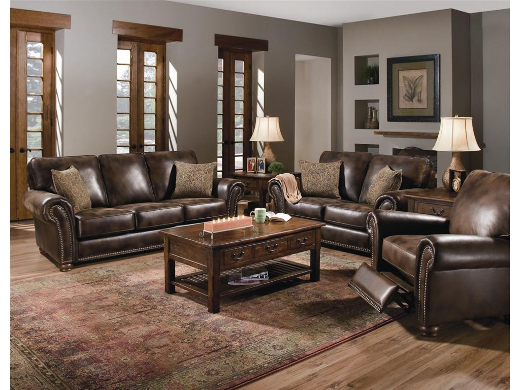 Shown with Stationary Sofa and Loveseat
