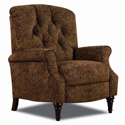 Lane Hi Leg Recliners Traditional Belle Hileg Recliner with Tufted Back