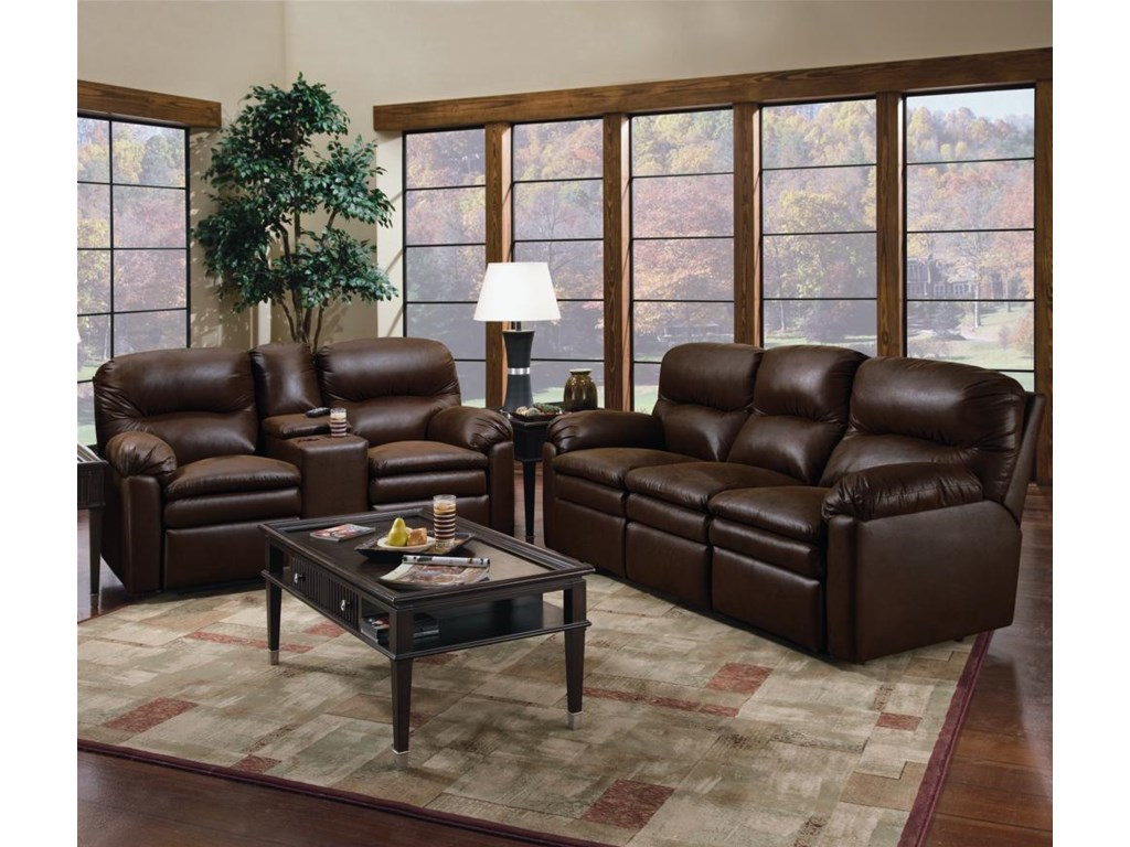 Shown With Double Reclining Console Sofa