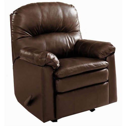 Lane Touchdown Leather Wall Saver Recliner