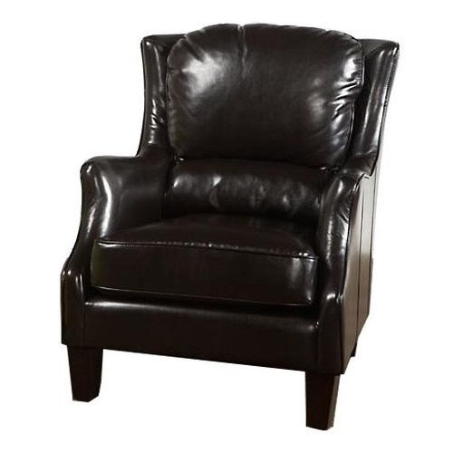 Largo Accent Chairs Accent Chair with Flair Tapered Arms