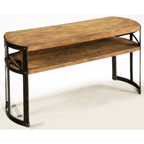 LaurelHouse Designs Ashton Single Shelf Console Table with Union Jack Metal Frame