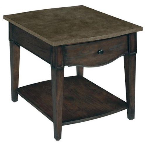 LaurelHouse Designs Emery 1 Drawer Rectangular End Table