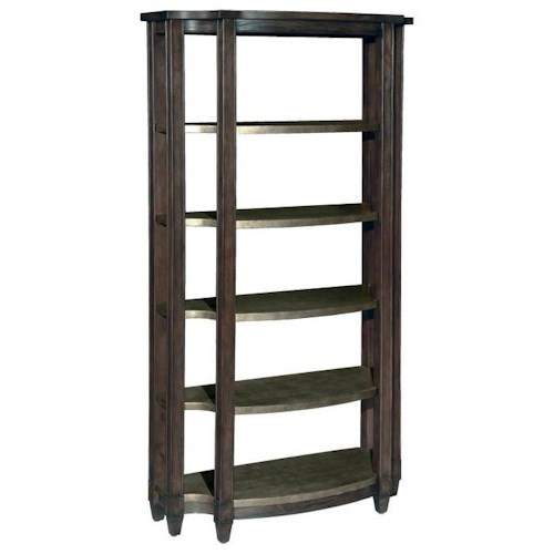 LaurelHouse Designs Emery Etagere with 5 Fixed Steel Wrapped Shelves