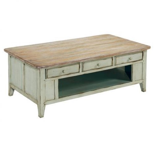 LaurelHouse Designs Haley Rectangular Coffee Table w/ 3 Drawers