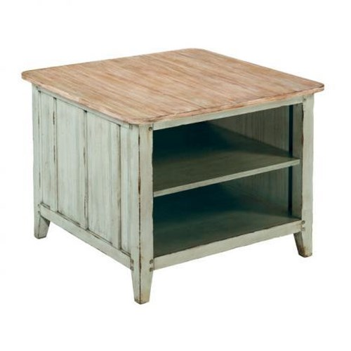 LaurelHouse Designs Haley Square End Table w/ 2 Fixed Shelves