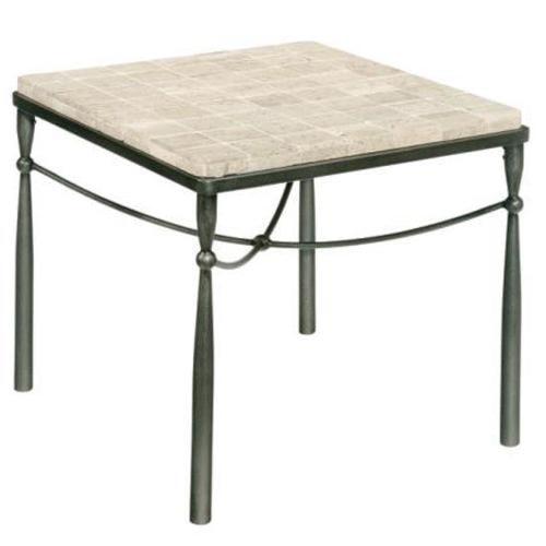 LaurelHouse Designs Kyra  Rectangular End Table With Tiled Top