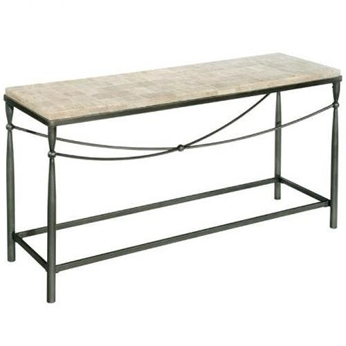 LaurelHouse Designs Kyra  Rectangular Console Table with X Stretcher Design
