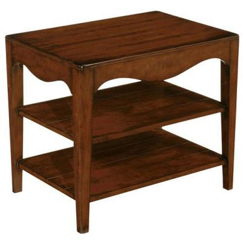 LaurelHouse Designs Landon  Accent Table With 2 Shelves with  Hand-Rubbed Cherry Finish