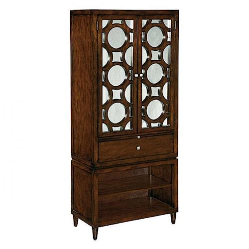 LaurelHouse Designs Orbit Bar Cabinet with Mirrored Doors