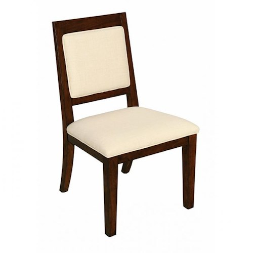 LaurelHouse Designs Orbit Side Chair with Upholstered Seat and Back