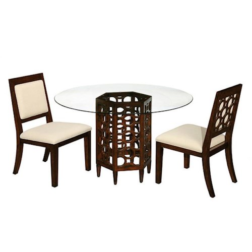 LaurelHouse Designs Orbit Round Dining Table with Side Chairs