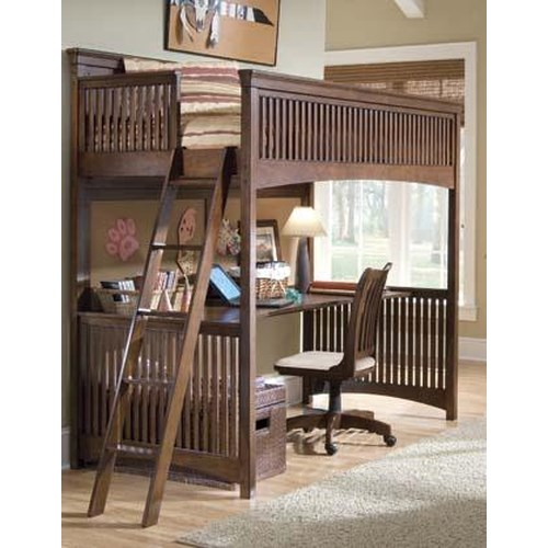 Morris Home Furnishings Fairmont Twin-Size Loft Bed with Desk
