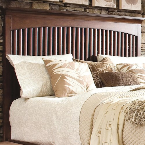Morris Home Furnishings Fairmont Queen Headboard Bored for a Frame with Vertical Open Slats