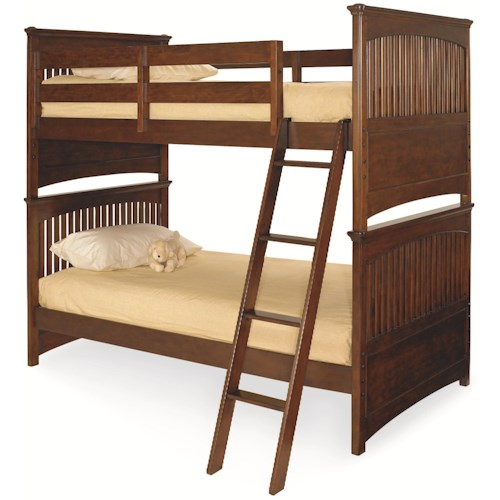 Morris Home Furnishings Fairmont Twin-Over-Twin Shaker Style Bunk Bed