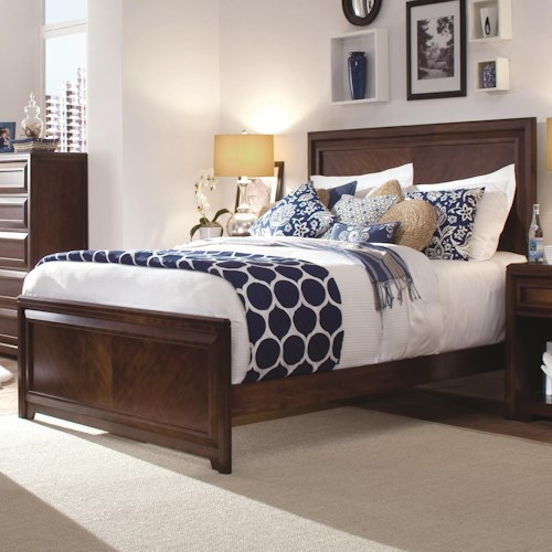 Morris Home Furnishings Roma Queen Panel Headboard & Footboard Bed