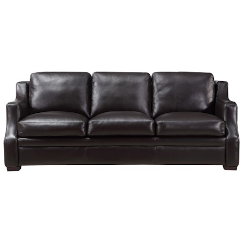 Leather Italia USA Grandview Contemporary Leather Sofa
