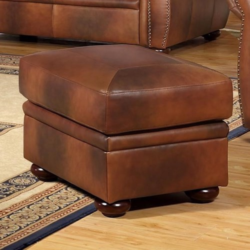 Leather Italia USA Arizona Leather Ottoman