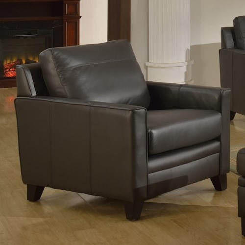 Leather Italia USA Fletcher Leather Chair