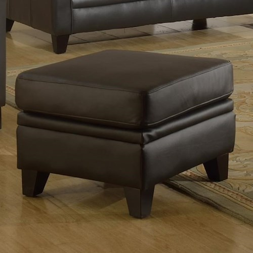Leather Italia USA Fletcher Leathe Ottoman