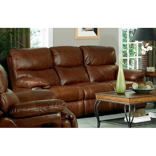 Leather Italia USA Baker Casual Leather Power Reclining Sofa