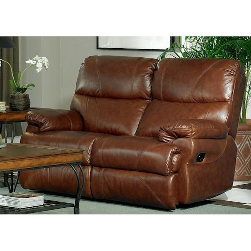Leather Italia USA Baker Casual Leather Power Reclining Love Seat