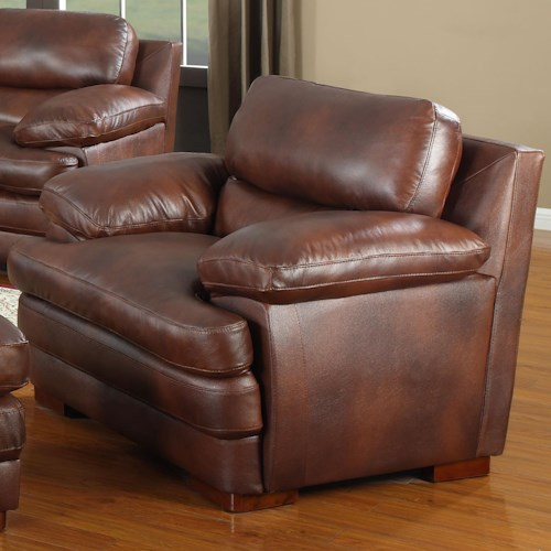 Leather Italia USA Baron Leather Upholstered Chair