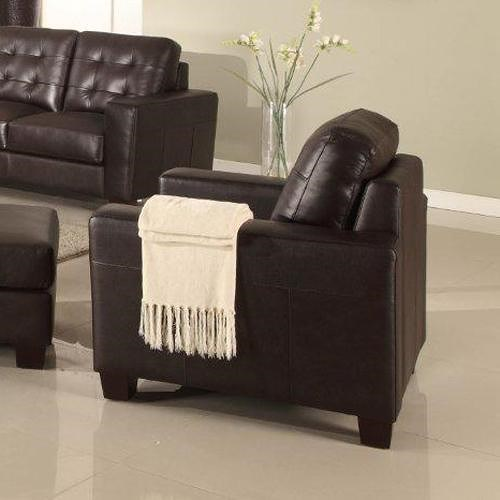 Leather Italia USA Compton Contemporary Upholstered Chair with Tufting