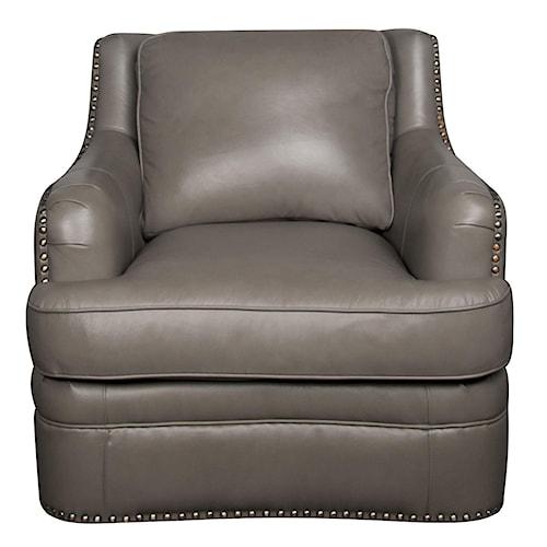 Morris Home Furnishings Maya 100% Leather Chair