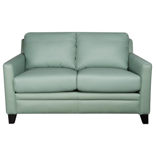 Morris Home Furnishings Rufus 100% Leather Loveseat