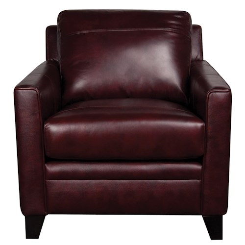 Morris Home Furnishings Rufus 100% Leather Chair