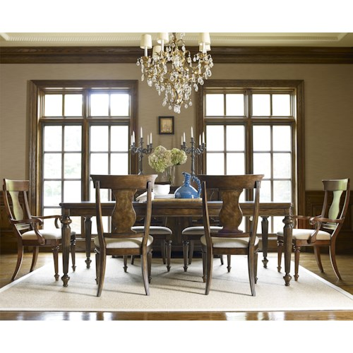 Legacy Classic Barrington Farm 7 Piece Dining Set with Splat Back Chairs