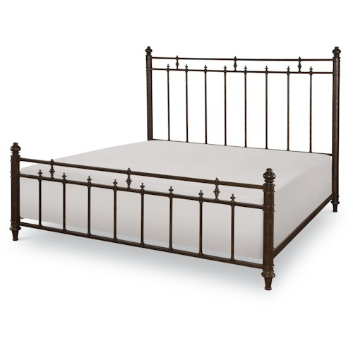 Legacy Classic Barrington Farm King Metal Bed with Turned Posts