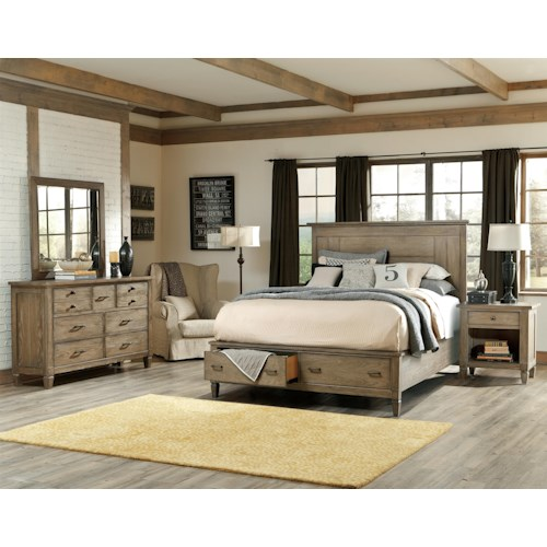 Legacy Classic Brownstone Village King Bedroom Group 2
