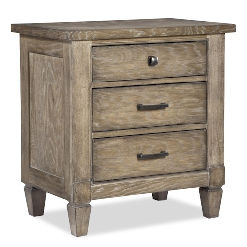 Legacy Classic Brownstone Village 3 Drawer Nightstand with Outlet